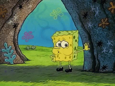 Spongebob tired and naked meme template