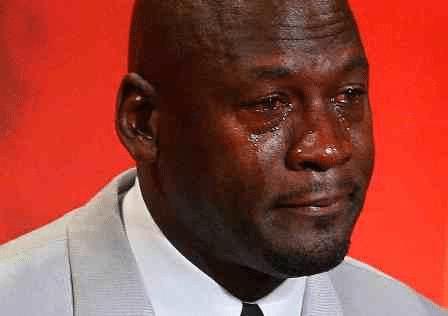 crying Jordan meme template