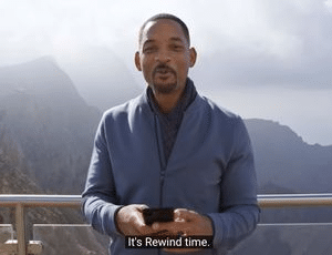 its rewind time will smith meme template
