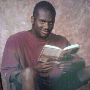 Shaq with Book Template Reading meme template