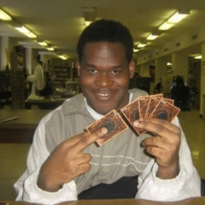 "Black Guy / Yu-Gi-Oh ""You activated my trap card"" IRL meme template"