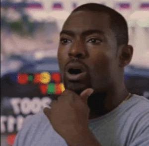 Black Guy Realization template  Surprised meme template