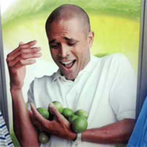 Guy Holding Lots of Limes Food meme template