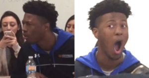 Shocked Black Kid Black Twitter meme template