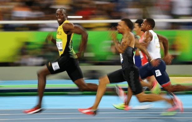 usain bolt running wide meme template