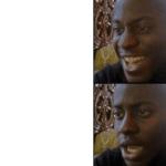 black guy happy sad meme template