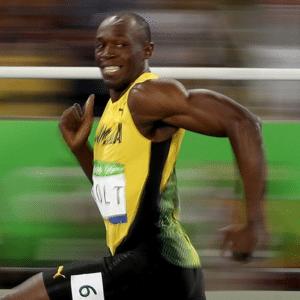 Usain Bolt Running Template Black Twitter meme template