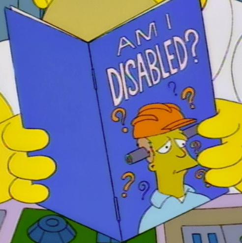 am I disabled simpson's meme template