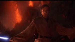 obi wan I have the high ground prequel meme template