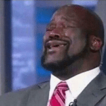 shaq laughing meme template