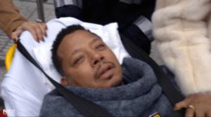 Black Guy on Stretcher Black Twitter meme template
