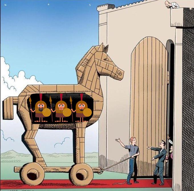 trojan horse meme template