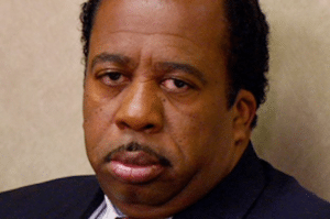 Stanley from The Office Angry meme template
