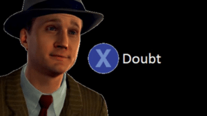 X to Doubt template Gaming meme template