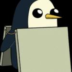 Penguin Wearing Sign Template (blank)  meme template blank