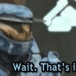 "Red vs. Blue ""Wait, that's illegal""  meme template blank"