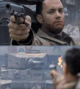 Tom Hanks Shooting Tank Template (blank) Movie meme template