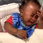 black baby crying meme template