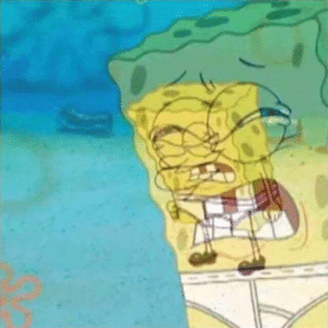 Spongebob Internal Struggle Angry in Underwear Angry meme template