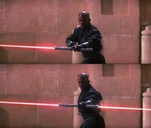 Darth Maul Lightsaber 2 Subterfuge meme template