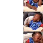 shocked black baby crying double take