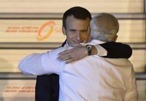 Macron Hugging Template Hugging meme template