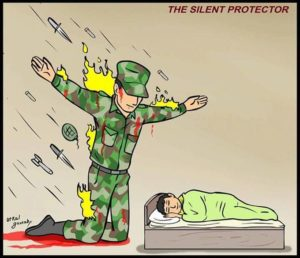Soldier Taking Bullets Template (blank) Gun meme template