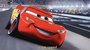 "Cars / Lightning McQueen ""I am speed"" Pixar meme template"