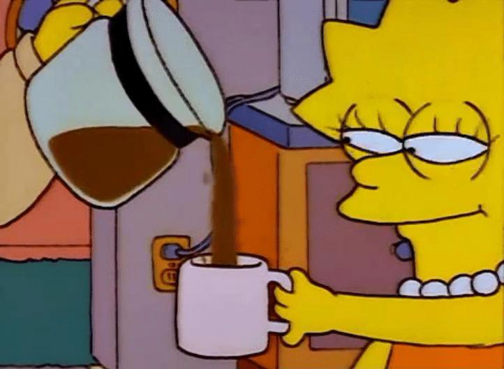 lisa simpson coffee meme template