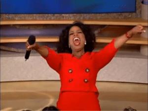 "Oprah ""You get a… everyone gets a…"" Black Twitter meme template"