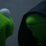 Inner Me Kermit  meme template blank