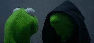 Inner Me Kermit Frog meme template