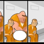 Big and Small Person in Prison  meme template blank