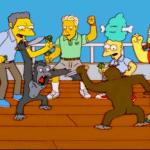 Simpson's Monkey Knife Fight Template (blank) Simpsons meme template