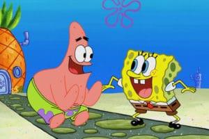 Spongebob and Patrick Happy Patrick meme template