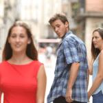Distracted Boyfriend  meme template blank