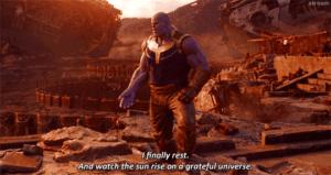 """Thanos """"I finally rest"""" Avengers meme template"""