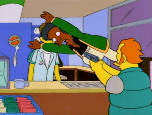 Apu Taking Bullet Stopping meme template