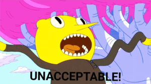 "Lemongrab ""UNACCEPTABLE!"" April 2020 meme template"