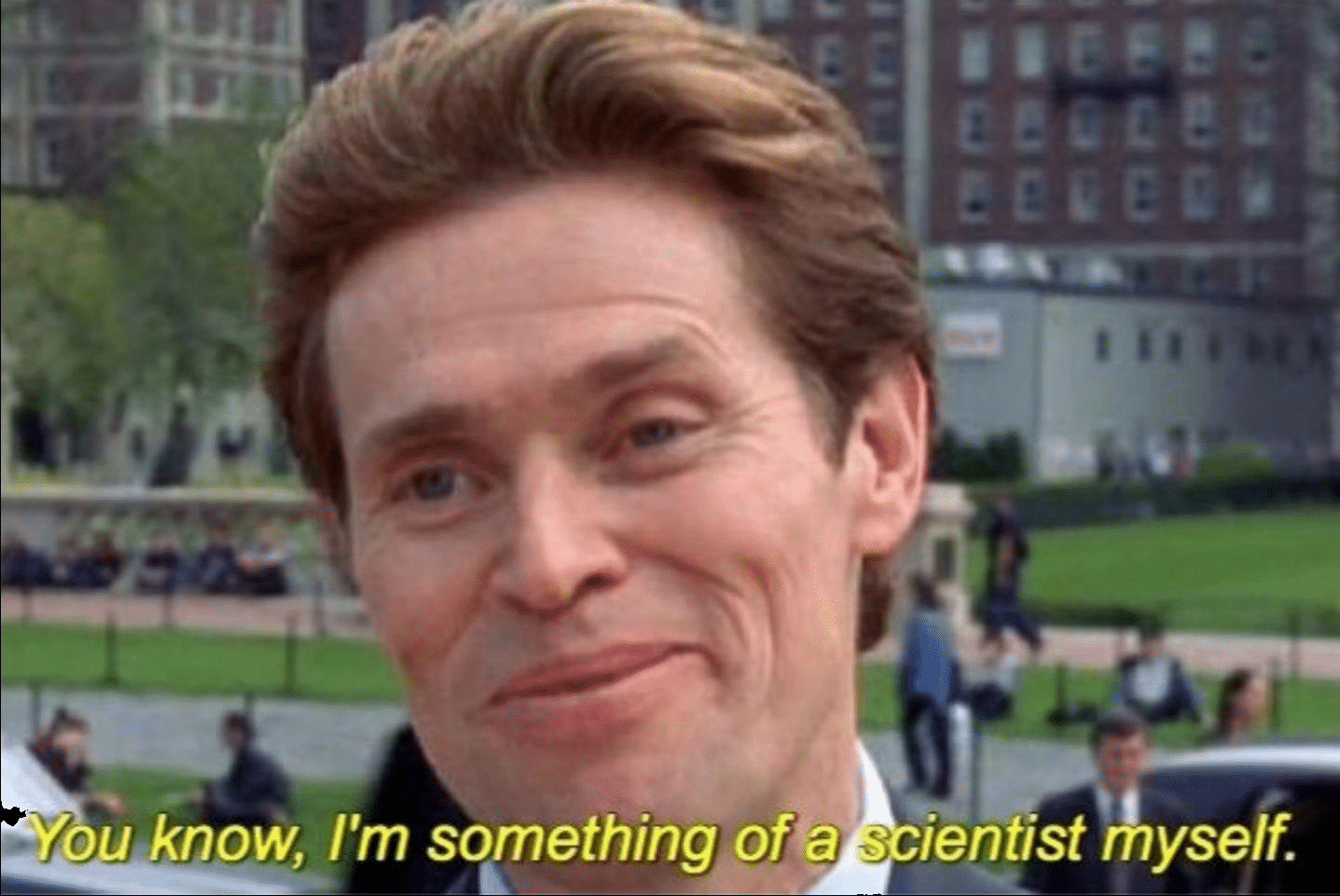 im something of a scientist myself spiderman meme template
