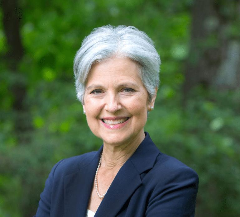 Jill Stein Happy / Portrait Political meme template blank