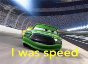 I was speed Pixar meme template