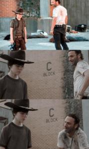 Crying Rick Grimes Walking meme template