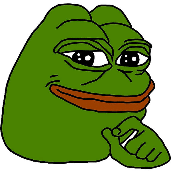 Pepe the Frog (Thinking)  meme template blank