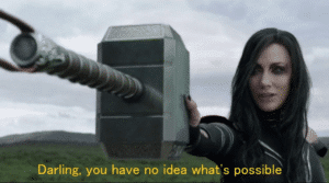 """Thor / Hela """"Darling you have no idea what"""