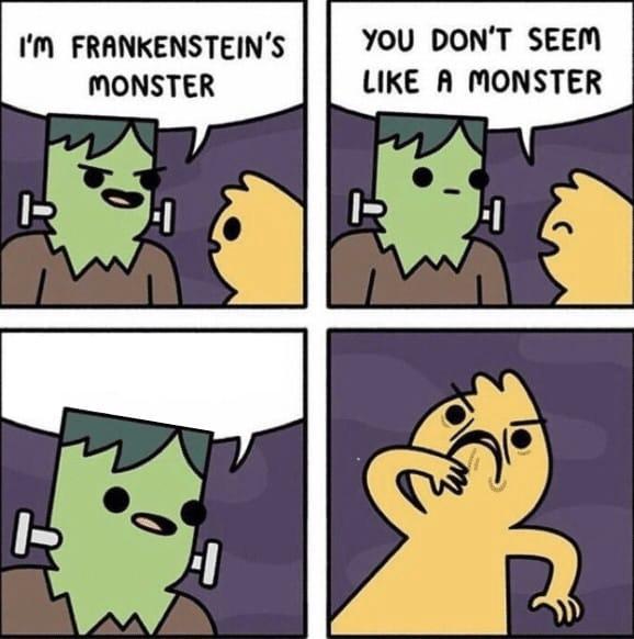 Frankenstein's Monster Comic (blank)  meme template blank