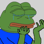 crying pepe the frog meme template blank