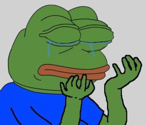 Crying Pepe Pepe meme template