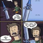 Sword of lies comic meme template blank