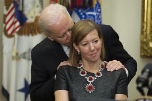 Joe Biden Behind Woman Woman meme template